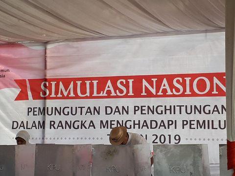 Simulasi nasional penghitungan dan pemungutan suara Pemilu 2019 di Tangerang