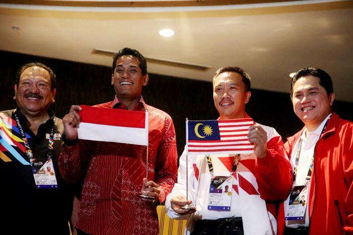 Menuai reaksi keras dari Indonesia soal insiden bendera, permintaan maaf langsung dilontarkan menpora Malaysia dan juga pihak panitia penyelenggara. Dok. Kemenpora.