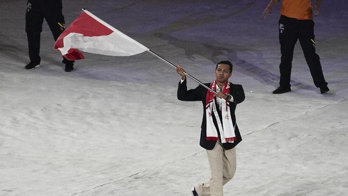 Siman Sudartawa di ajang SEA Games Malaysia lalu. (Foto: Wahyu Putro A/Antara)