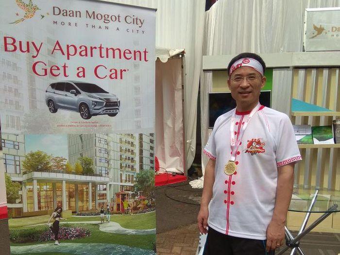 CEO CCCG Shen Chao di booth Daan Mogot City /Foto: Handy Nursatyo/detikcom