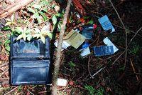 Beberapa peninggalan jenazah yang bunuh diri di Aokigahara
