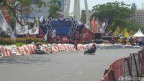Seru, Honda Sulap Jalan Raya di Semarang Jadi Sirkuit Balap