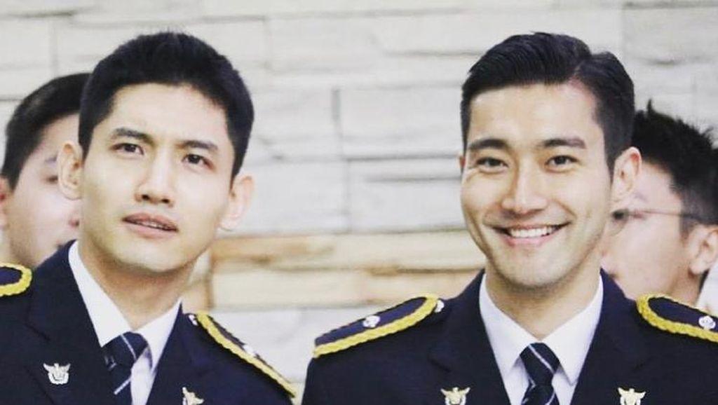Foto: Gagah dan Tampannya Siwon Super Junior Berseragam Polisi