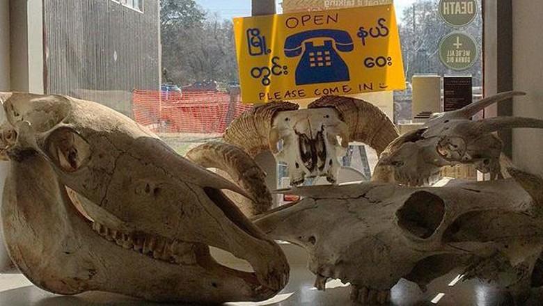 Tulang binatang yang dijual di The Departure (Foto: Dok. The Departure)