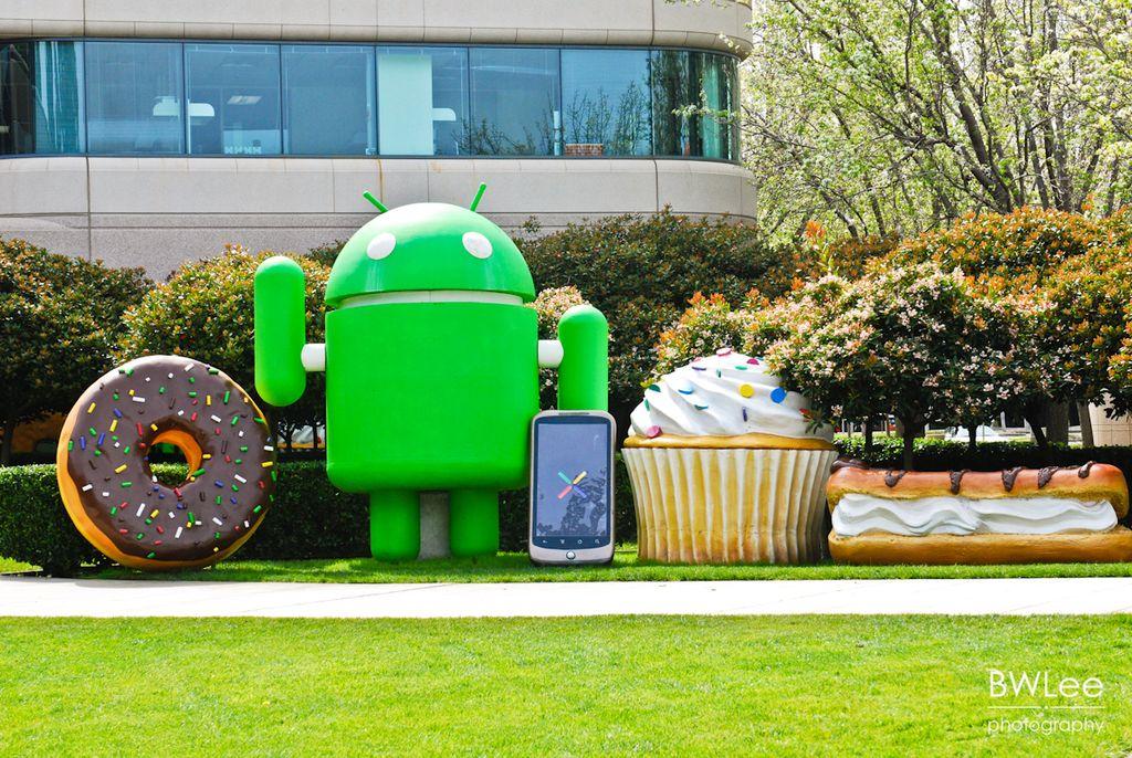 Cupcake, Donut dan Eclair, ketiganya bersamaan hadir di Googleplex. Foto: internet