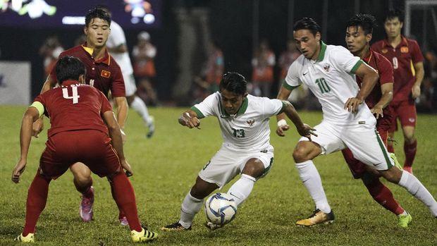 Kali terakhir bertemu, Timnas Indonesia menghadapi Timnas Vietnam di SEA Games 2017.