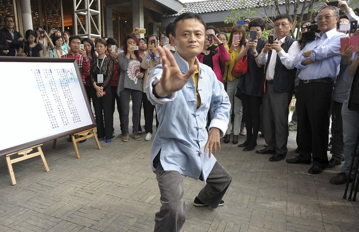 Jack Ma sedang kung fu. Foto: internet