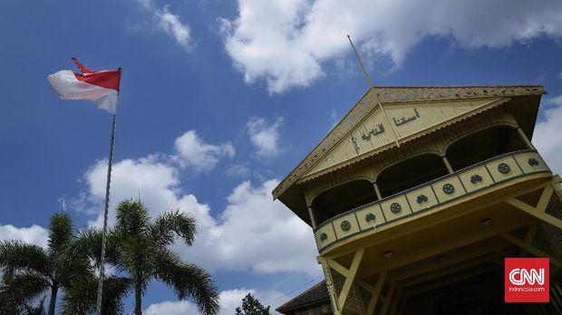 Istana Kesultanan Pontianak, Keraton Kadariah, yang dibangun 1771 M.