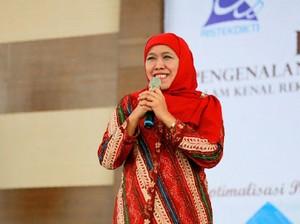 Bertemu Jokowi, Khofifah Tepis Bahas Pilgub Jatim