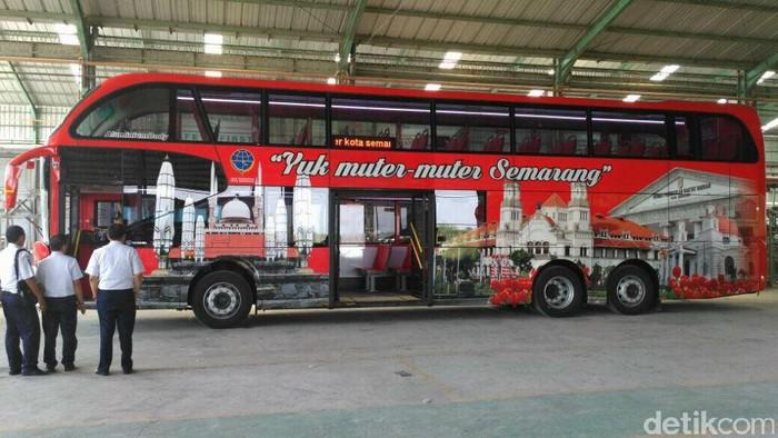 Bus tingkat yang akan dilaunching 17 September 2017. Foto: Dok Dishub Kota Semarang