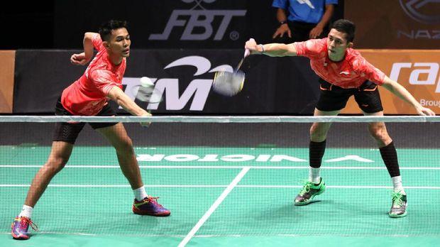 Fajar/Rian baru meraih satu gelar juara sepanjang 2018, tepatnya di Malaysia Terbuka.