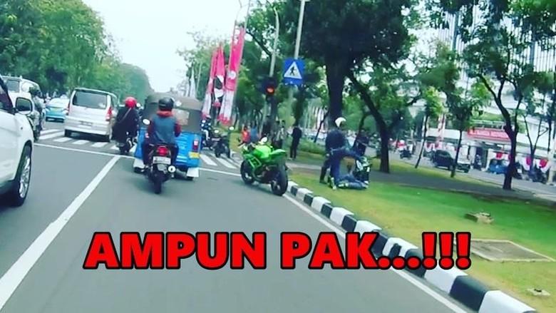 Puspom TNI Cek Video Viral Pemotor Ugal-ugalan Ditendang