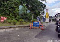Arah masuk ke PLBN Entikong dari sisi Malaysia.