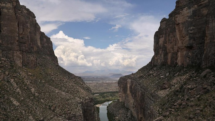 LAJITAS, TX - AUGUST 01:  The Rio Grande forms the U.S.-Mexico border while winding through the Santa Elena Pass in the Big Bend region on August 1, 2017 near Lajitas, Texas. Logistical challenges, such as the terrain of Big Bend in west Texas, are just some of the complications facing the construction of a border wall proposed by President Trump. (Photo by John Moore/Getty Images)