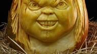 Buah Labu Jadi Keren Dibentuk Boneka Chucky hingga Kim Kardashian