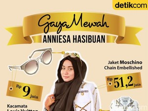 Infografis: Gaya Mewah Anniesa Hasibuan From Head to Toe