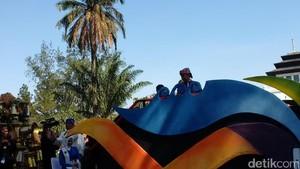 Pimpin Karnaval Kemerdekaan, Jokowi Naik Kereta Pancasila