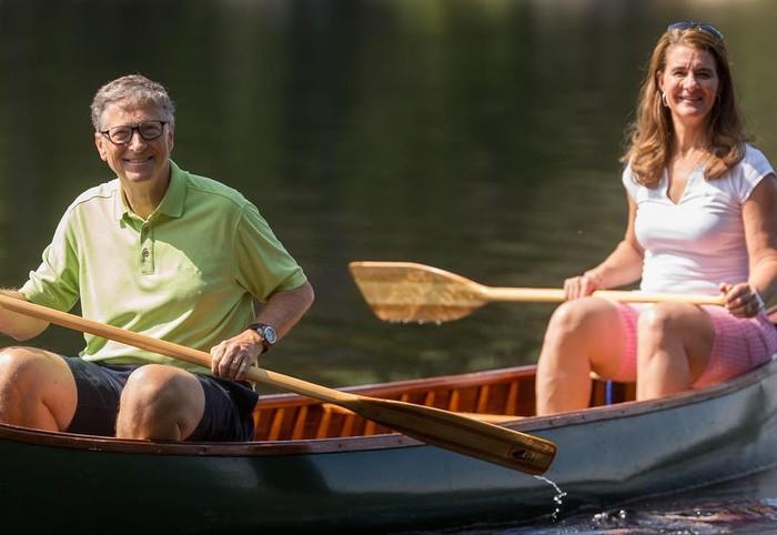 Bill Gates dan istrinya Melinda. Foto: (Instagram/@melindafrenchgates)