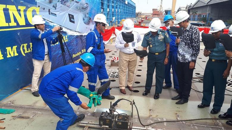 Keel Laying Lebih Awal, Kapal LPD TNI AL Diharapkan Cepat Rampung
