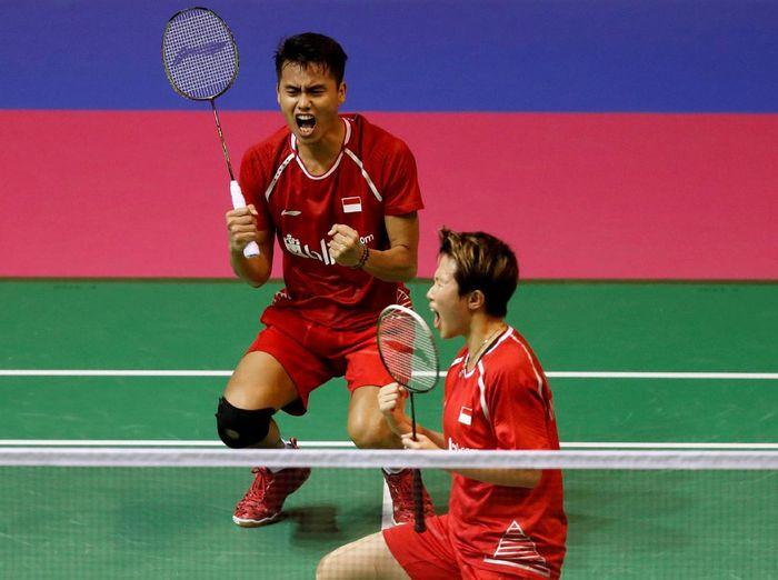 Pebulutangkis Indonesia Tontowi Ahmad/ Liliyana Natsir (Foto: Russell Cheyne/Reuters)