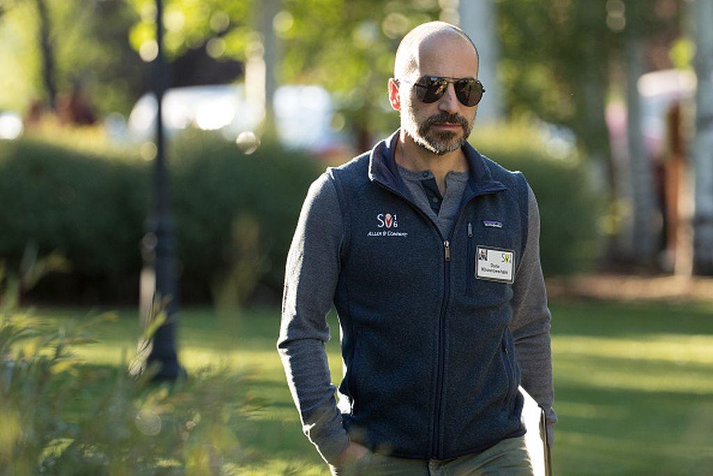 Dara Khosrowshahi menjabat CEO Uber sejak tahun 2017, menggantikan sang pendiri, Travis Kalanick. Pria imigran Iran ini sudah malang melintang di jagat teknologi. Sebelum di Uber, dia adalah CEO Expedia. Dara termasuk salah satu CEO dengan bayaran tertinggi. Foto: Getty Images