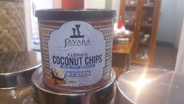 Produk keripik kelapa Javara