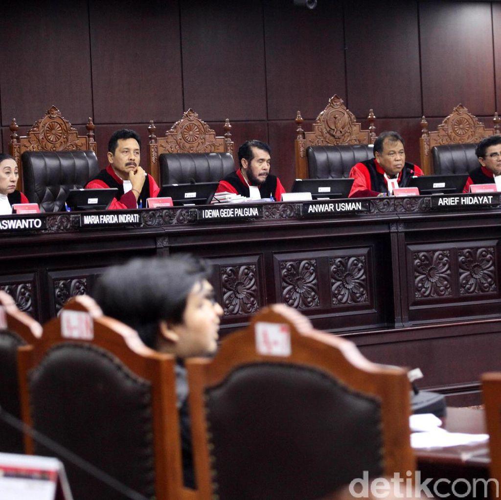 MK Belum Terima Surat Tim Hukum Prabowo soal Perlindungan Saksi