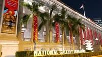 National Gallery Singapura atau Galeri Nasional Singapura di Singapura menyajikan sejumlah karya seni kelas internasional yang sayang untuk dilewatkan (Tri Ispranoto/detikTravel)