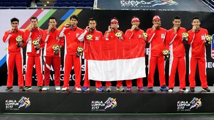 Indonesia di SEA Games 2017 Kuala Lumpur. (Foto: Humas PBSI)