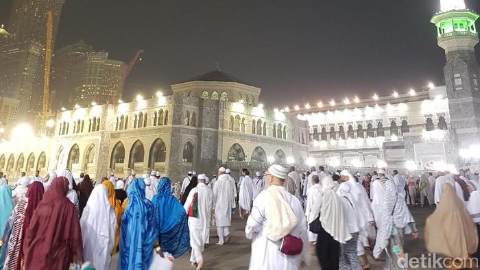 Jemaah Haji di Masjidil Haram (Foto: Triono Wahyu S/detikcom)