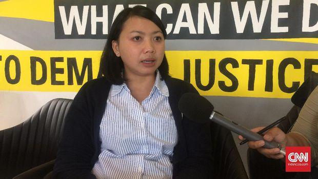 epala Divisi Pembelaan Hak Sipil dan Politik Komisi untuk Orang Hilang dan Korban Tindak Kekerasan (KontraS) Putri Kanesia.