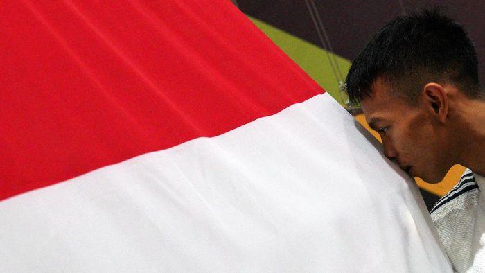Ilustrasi Indonesia peringkat kelima SEA Games 2017 Kuala Lumpur. (Sigid Kurniawan/Antara Foto)