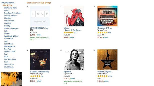 Album BTS menjadi yang terlaris di Amazon.