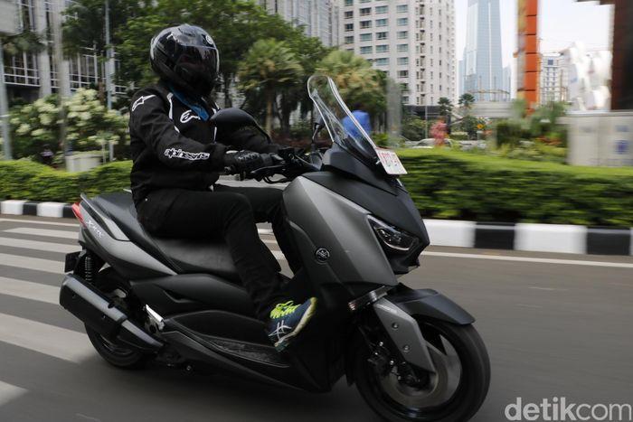 1. Motor yang dipakai Prabowo adalah Yamaha Xmax Foto: Khairul Imam Ghozali