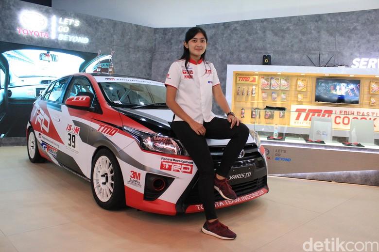 Alinka Hardianti, pebalap dari Toyota Team Indonesia (Foto: Rangga Rahadiansyah)