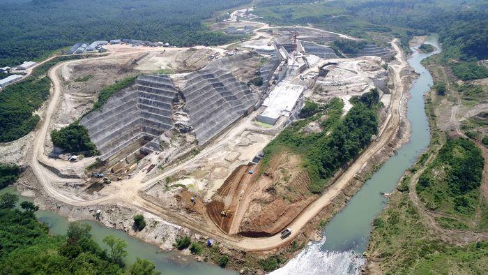 Begini penampakan terkini proyek pembangunan Bendungan Karian di Kabupaten Lebak, Banten. Dok. Kementerian PUPR.