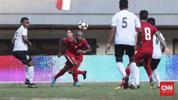 Pelatih Mauritius, Francisco Filho, menyebut Boaz Solossa sebagai 'hantu'.