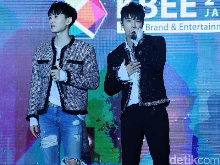 Foto: Donghae dan Eunhyuk (Ismail/detikHOT)