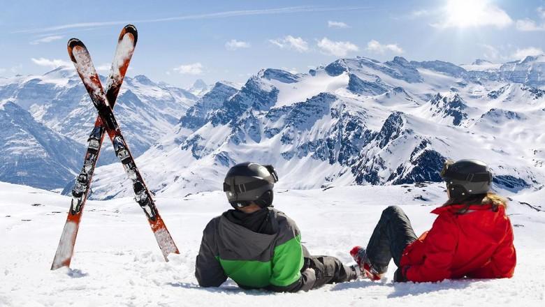 Ilustrasi liburan musim dingin di Prancis musim (Thinkstock)