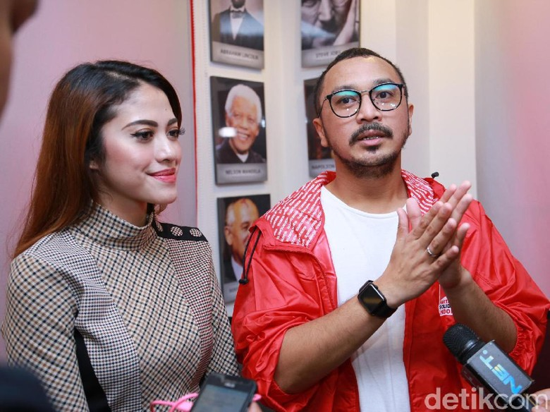 Foto: Cynthia dan Giring (Hanif Hawari/detikHOT)