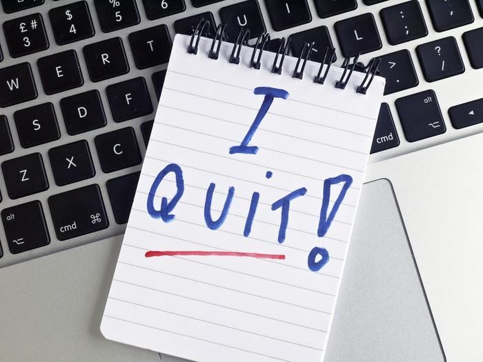 Ilustrasi resign dari pekerjaan. Foto: Thinkstock