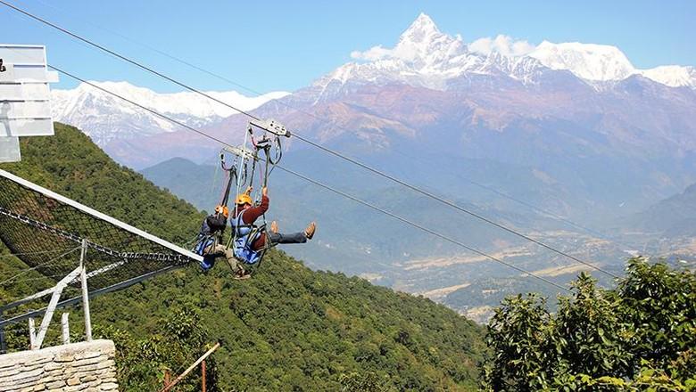 Flying fox di Nepal (highgroundnepal.com)