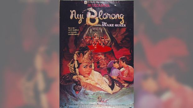 Salah satu film horor lawas produksi Rapi Films, 'Nyi Blorong' (1982).