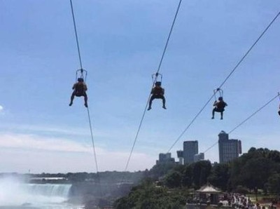 Sensasi Main Flying Fox di Atas Air Terjun Niagara