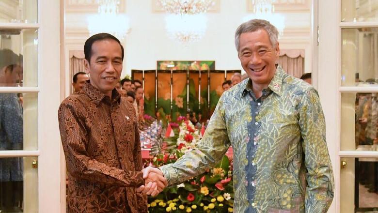 Presiden Jokowi dan PM Singapura Lee Hsien Loong (Dok. Biro Pers Setpres)
