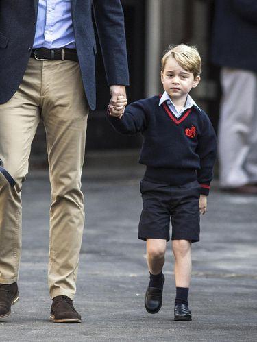 Foto: Bedanya Pangeran William dan Pangeran George di Hari Pertama Sekolah