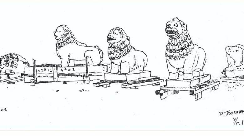 Sketsa Pemugaran Candi Borobudur 1983