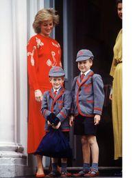 Putri Diana bersama Pangeran Harry dan Pangeran William.