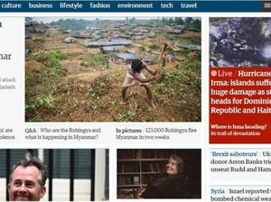 Krisis Rohingya Masih Jadi Perhatian Sejumlah Media Dunia