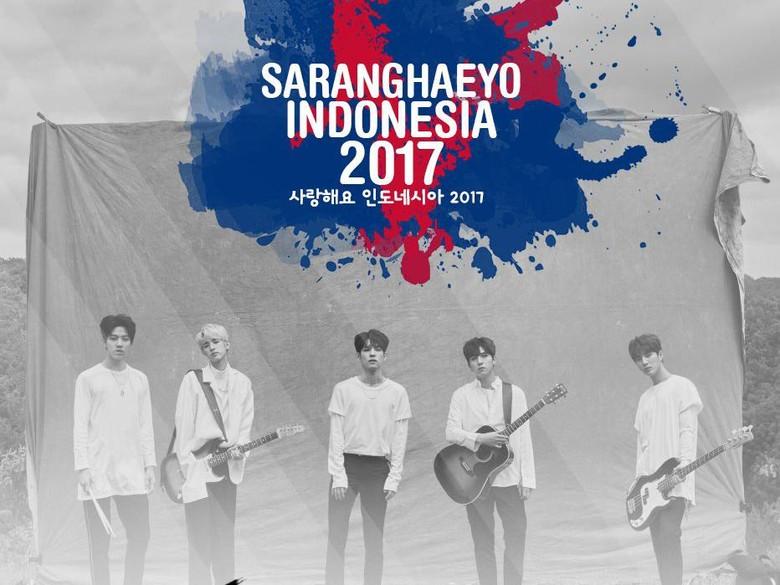 Foto: Day6 Jadi Line Up Selanjutnya di Konser Saranghaeyo Indonesia 2017 (Mecima Pro)